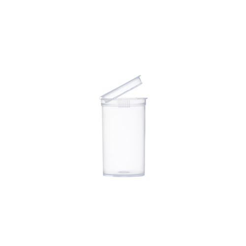 19 Dram Clear Child Resistant Pop-Top Bottles, 225 pcs