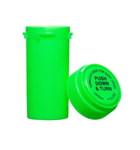 13 Dram Push & Turn Reverse Cap Bottles - 410/ Case - Green