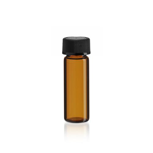 1 Dram Amber Glass Vial w/ Cap - Pkg. of 144