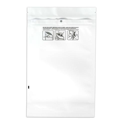 1000 White 6.02″ x 9.80″ Child Resistant Pouches