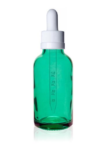 1 oz Caribbean Green w/ White Child Resistant Calibrated Dropper