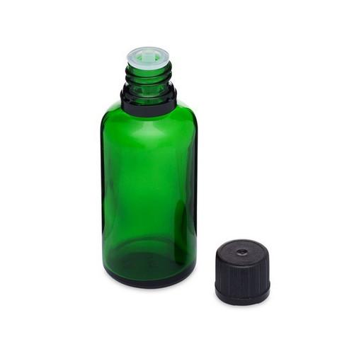 1.7 oz Green Glass Euro Dropper Bottles (Tamper-Evident Cap) - Set of 24