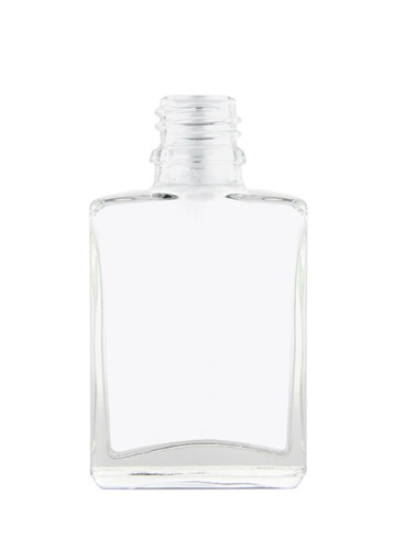 1 oz CLEAR SQUARE Glass Bottle w/ 18-415 Temper Evident Neck Finish