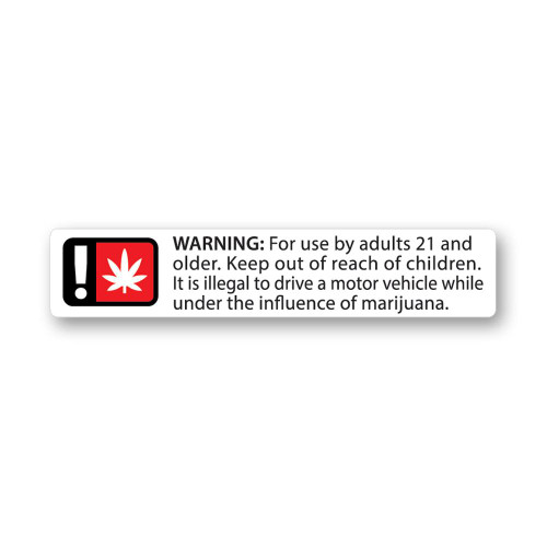 Generic Warning Labels - Oregon Compliant - 1000 Count