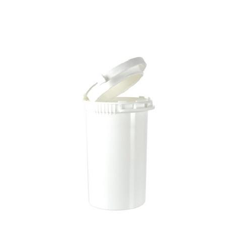White Tamper Evident CR Pop Top Bottle 19 Dram - 256 Count