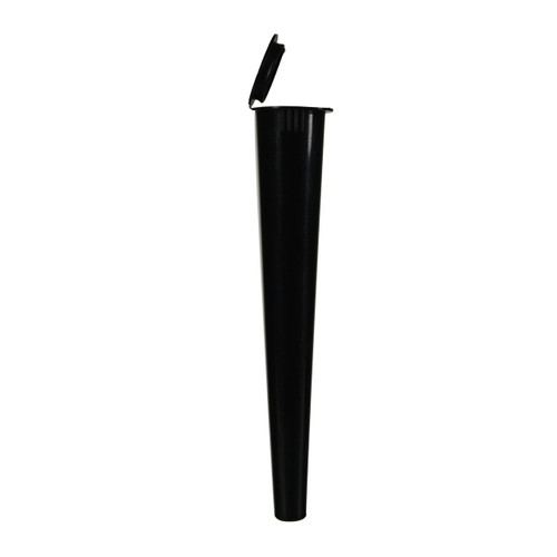 Opaque Black Child Resistant Conical Tube 109MM - 1,000 Count