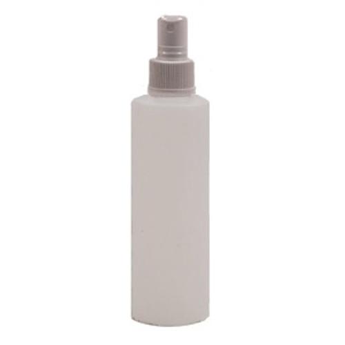 Natural HDPE Plastic Bottle 4oz w/ White Atomizer