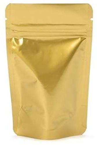 """100 Pack, 1 oz, 3 1/8""""x 5 1/8"""" Airtight Zipper Stand up Pouch, Barrier Bag - Heat Seal-able Zip Lock (Matt Gold)"""
