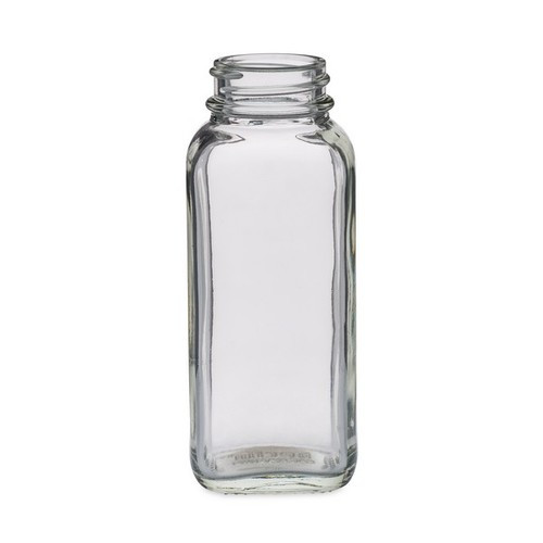 4oz Clear Glass French Square Bottles 33/400 - Pack of 120