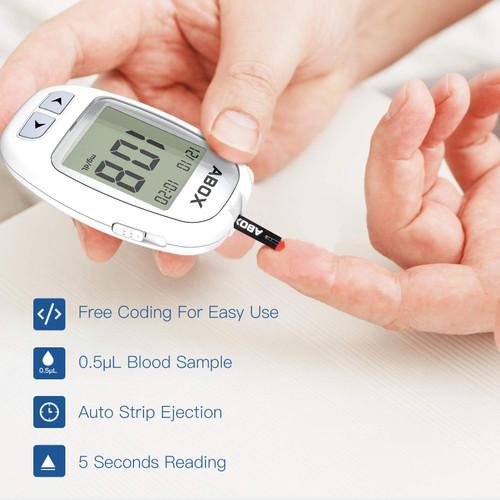 Blood Glucose Meter Kit, ABOX Glucose Monitoring Kit Diabetes ...