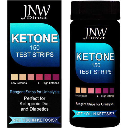 Ketone Test Strips, 150 Urinalysis Keto Test Strips for Testing Body Urine Ketosis Levels, Perfect Kit for Diabetics, Ketogenic and Weight Loss Diets