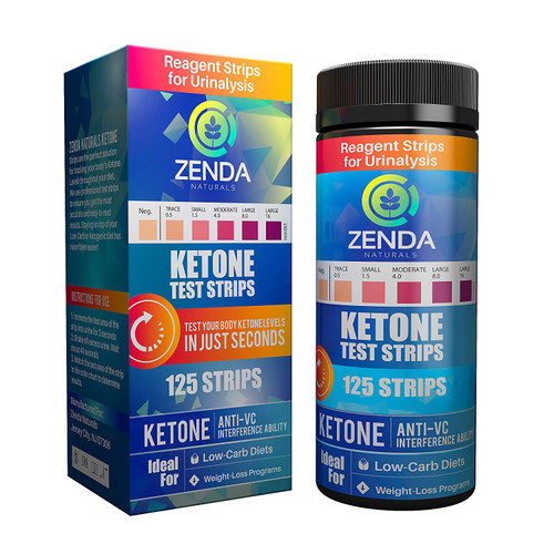 Strips - Perfect Ketogenic Supplement to Measure Ketones in Urine & Monitor Ketosis for Keto Diet, 125 Urinalysis Test Strips