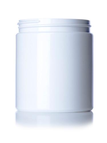 ($.52 ea) 19 oz white PET single wall jar with 89-400 neck finish- Case of 175