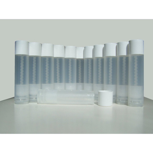 Lip Balm Empty Container Tubes 3/16 Oz (5.5ml), Natural (Translucent) Color (LipBalm)