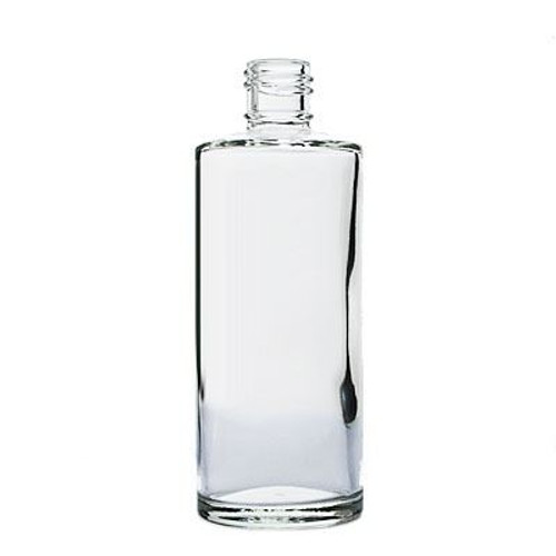4 oz clear glass rio round bottle with 20-415 neck finish - Case of 120