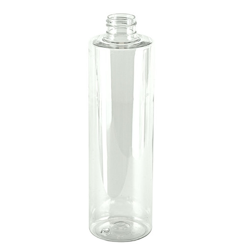 10 oz CLEAR PET Cylinder Bottle with 24-410 mm neck finish case of 154