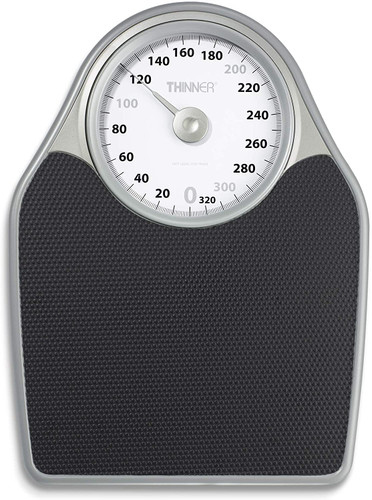 Thinner Extra-Large Dial Analog Precision Bathroom Scale, Analog Bath Scale - Measures Weight Up to 330 lbs