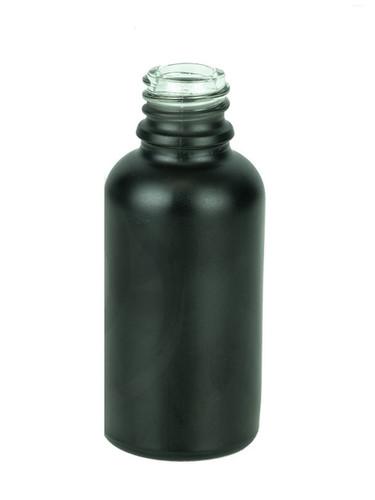 30ml Matte Black Euro Round Glass Bottle 18-415- Case of 330