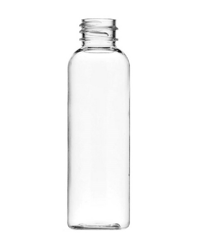 ($.45 ea Pk 660) 4 oz clear PET cosmo round bottle with 24-410 neck finish