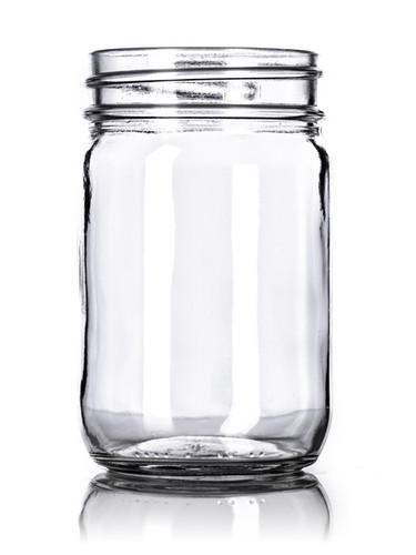 12 oz clear glass jar with 70-450G neck finish-Case of 96