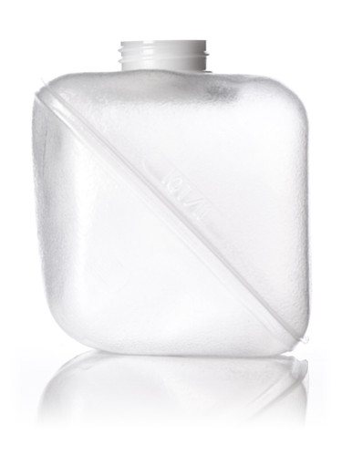 1 quart clear LDPE collapsible water container with 38-400 neck finish - Set of 72