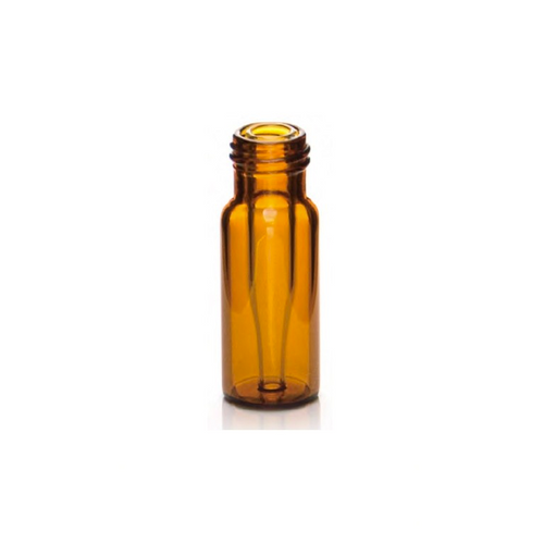 Screw Top 9mm Amber Glass .3mL HPLC Autosampler Vials w/ Integrated Micro-Insert - Pack of 100