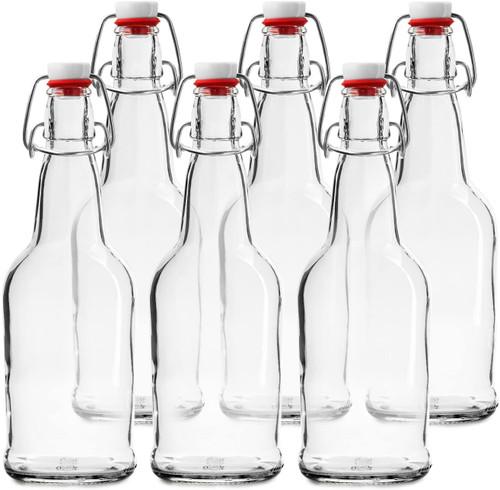 CASE of 6-16 oz. Easy Cap Beer Bottles - Clear