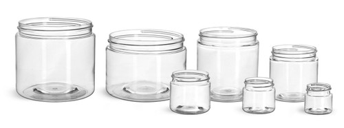 8 oz clear PET plastic single wall jar with 70-400 neck finish - Case of 320
