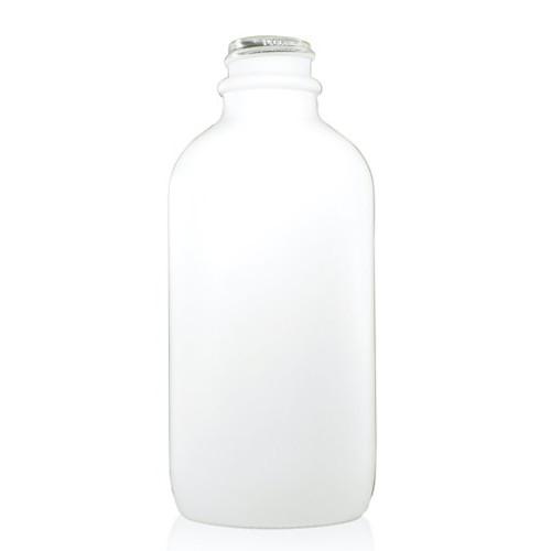 4 oz Matt White Glass Bottle 2