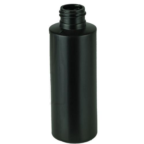 4oz HDPE Black Cylinder Bottle 24-410(550/cs)