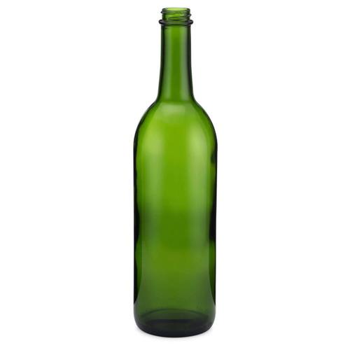 Composite Flat Bottom Wine Bottles, Screw Top Finish, 28-400 Screw Finish  - Set of 36