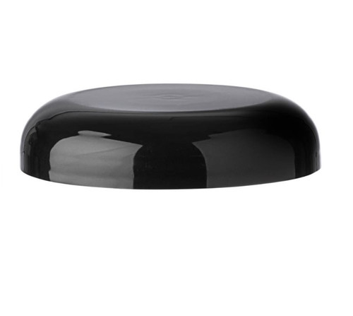 Black PP plastic 58-400 ribbed skirt lid with Dome liner - Case of 950