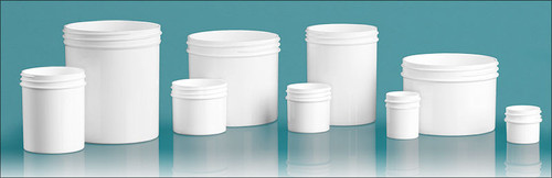 2 oz white PP single wall jar with 70-400 neck finish- Case of 441