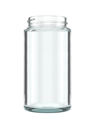6oz -Straight Sided Clear Glass Jars 50mm - 80 Count with CRC Lids