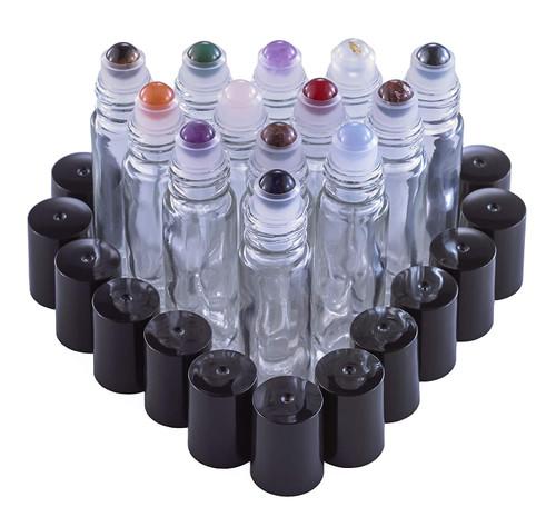 Gemstone Roller Balls For Essential Oils - 13 Beautiful Glass Roller Bottles With Precious Gemstones