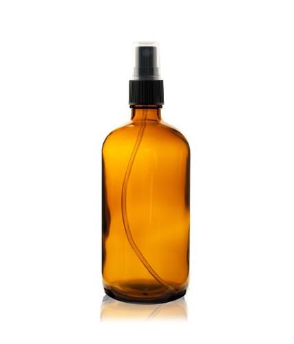 8 oz AMBER Boston Round Glass Bottle - w/ Fine Mist Sprayer