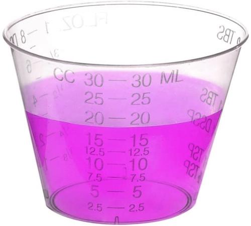 (1oz) - Plastic Disposable Graduated Medicine Cups (500 pack)