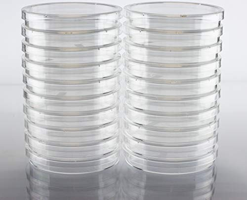 EZ Bioresearch Sterile 100 mm X 15 mm Petri Dish with Lid, Vented, 2 x Pack of 10