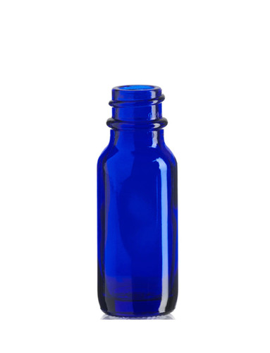 1/2 oz (15ml) Cobalt Blue Glass Bottle with 18-400 ne