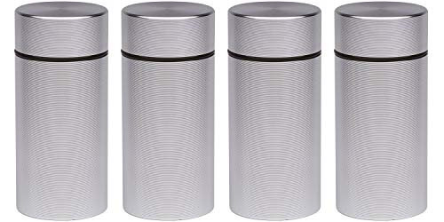 Stash Jar  Airtight Smell Proof Jar Aluminum Storage Container. Waterproof Weed Accessories Durable Multi-Use Portable Weed Jar. Herb Tobacco Spices Container Screw-Top Lid Lock Odor  Silver (4)