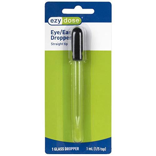 Ear and Eye Medicine Dropper | For Liquid & Essential Oils | 1mL Capacity | Glass