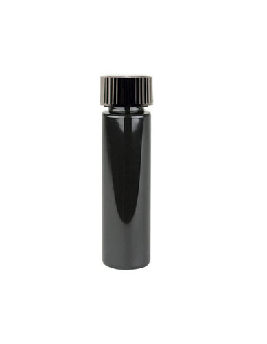 1 Oz (30ml) Black PET Cylinder Bottles with Black Poly Seal Cone Cap