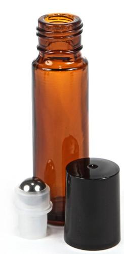 1/3 oz (10ml) Amber Glass Roll on Bottles