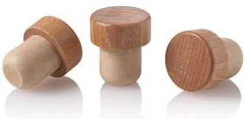 19.5mm Synthetic T-Cork with Wood Top