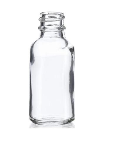 1 oz (30ml) Clear Boston Round Glass Bottle 20-400 neck finish