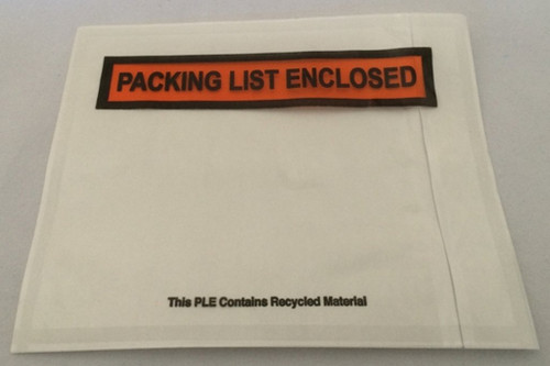 "4.5"" x 5.5"" Packing List Enclosed Printed Adhesive Back Load Packing List"
