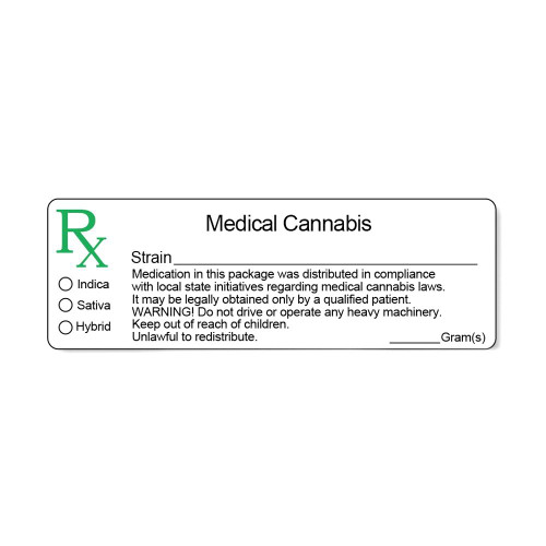 1000 pcs, Generic Concentrate Rx Medical Compliant Labels