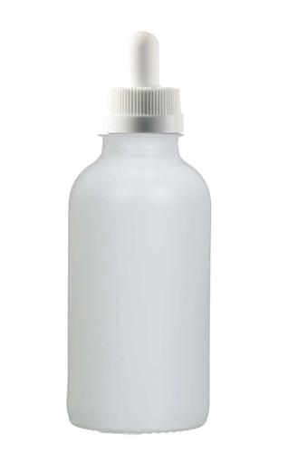 1 Oz Matt White Glass Bottle w/ White Child Resi