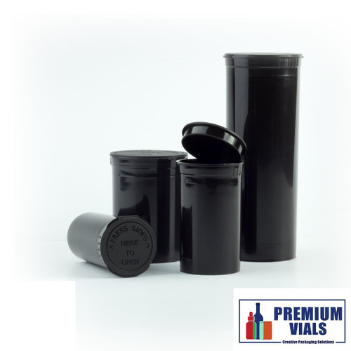 225 pcs, 19 Dram Green Pop Top Containers Full Cases, Best Medical Container Pop Top Bottles Pop Top Vial.