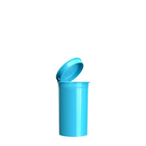 19 Dram, 225 pcs, Aqua Blue Pop Top ContainersPop Top Vial